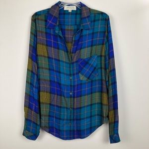 Anthropologie Cloth & Stone plaid shirt